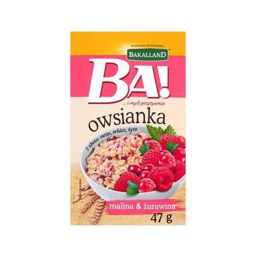 47g ba! owsianka malina i żurawina marki Bakalland