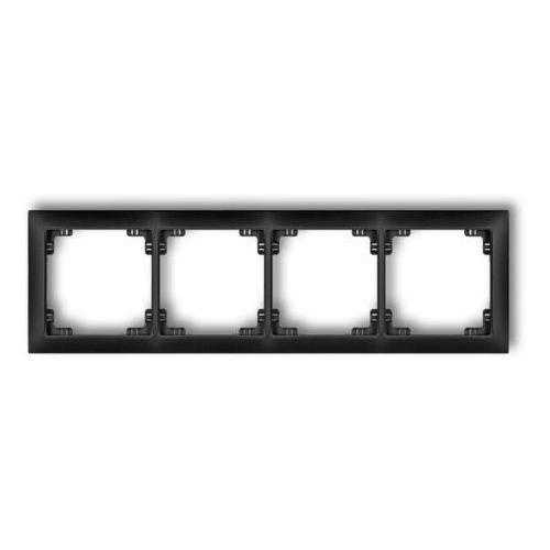 Karlik elektrotechnik sp. z o.o. Deco ramka uniwersalna poczwórna z tworzywa deco soft szary mat 27drso-4 (5901832009245)