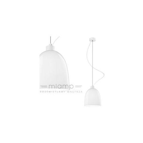 Sotto luce Lampa wisząca awa 1/s/opal szklana oprawa zwis biały