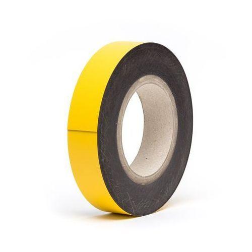 Haas Magnetyczna tablica magazynowa, żółte, rolka, wys. 25 mm, dł. rolki 10 m. zapewn