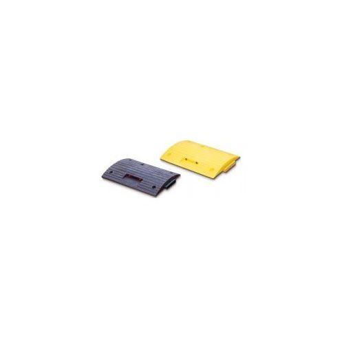 Progi zwalniające - elementy proste - kolor żółty i czarny, wym. 500 x 500 mm, wys. 70 mm