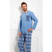 Piżama Taro Damian 978 dł/r XXL, jeans, Taro, kolor niebieski