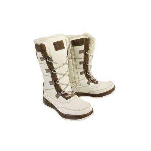 7z2096v biały/brąz, śniegowce damskie, Vemont
