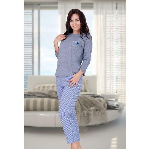 Piżama damska arleta 200 niebieska, M-max