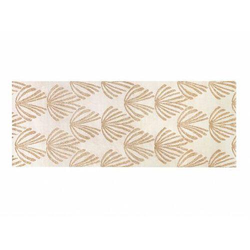 Chodnik lysa w stylu art deco – polipropylen – 80 × 200 cm – kolor beżowy i złoty marki Vente-unique