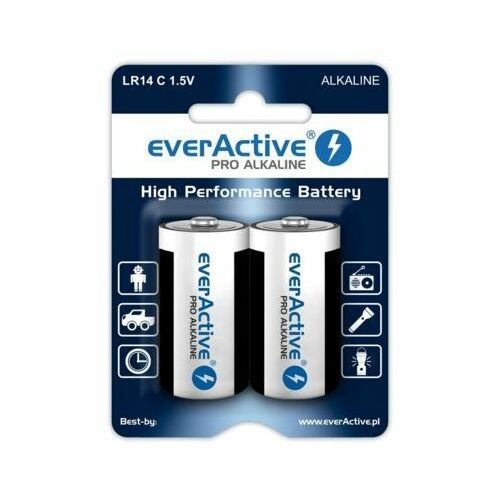 Everactive 2 x baterie alkaliczne pro lr14 / c (blister)