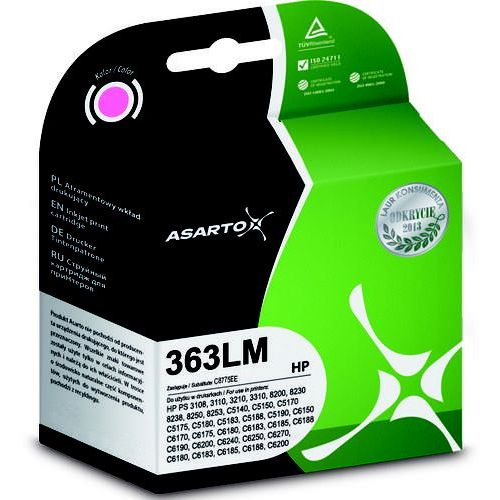 Tusz AS-H363LM Light Magenta do drukarek HP (Zamiennik HP 363 / C8775EE) [7.5ml]