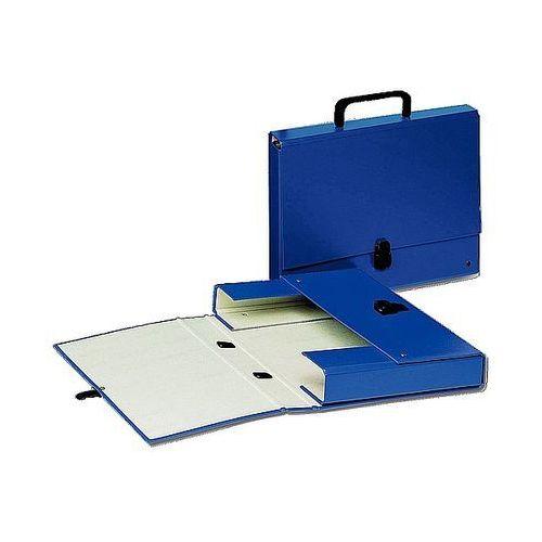Esselte Teczka tekturowa z rączką, grzbiet 40mm, niebieska 99335