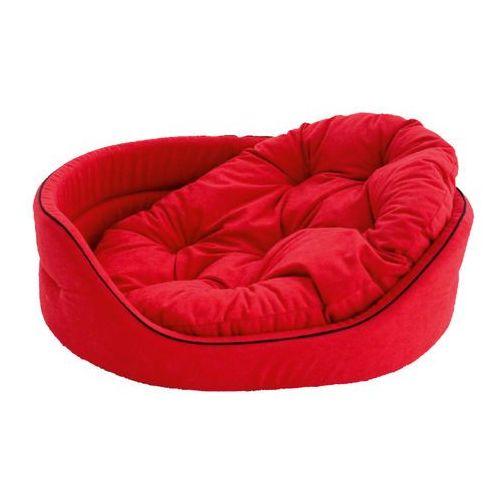 Krakvet legowisko lamowane z poduszką kolor: czerwony nr 1 41x34x14cm (5902135422076)