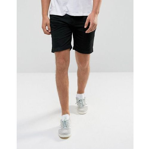 pull on drawstring canvas shorts - navy, D-struct