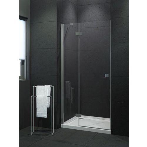 modena drzwi prysznicowe 90x190 lewe, profile chrom, szkło czyste exk-1005 * wysyłka gratis marki New trendy
