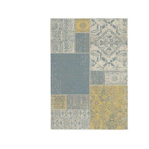 Dywan do wewnątrz lub na zewnątrz guimauve - polipropylen - 200 x 290 cm - kolor beżowy, żółty, niebieski marki Vente-unique