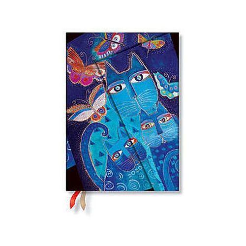 Paperblanks Kalendarz2020 ks. midi horizontal blue cats & butterflies 12m - (9781439761724)