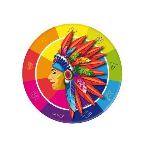 """Talerzyki papierowe """"indianie"""", mix, , 23 cm, 8 szt marki Folat"""