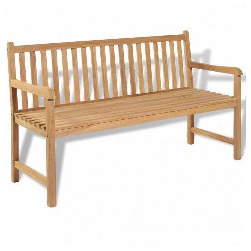 Drewniana ławka ogrodowa Tanas 2X - brązowa