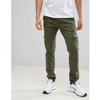 Voi Jeans Cuffed Cargo Pants in Tapered Fit - White, jeans