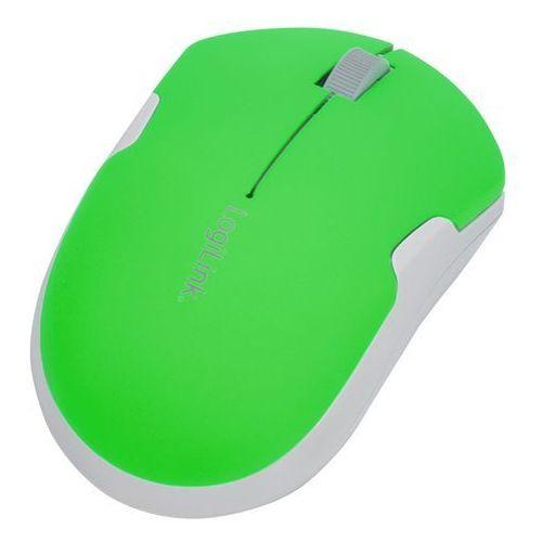 Bezprzewodowa mysz podróżna 2,4 GHz, Autolink ID0123 LogiLink Neon-Zielony (4052792030228)