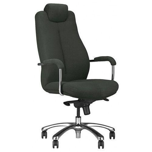 Fotel gabinetowy SONATA lux hrua steel28 chrome - biurowy z regulowanym zagłówkiem, krzes