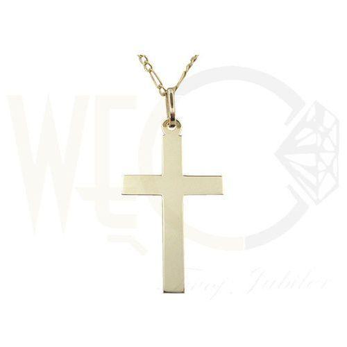 OKAZJA - Medalik z żółtego złota wec-z-med-krzyżyk-3 wyprodukowany przez Węc - twój jubiler