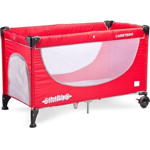 Caretero  simplo (czerwony) - produkt w magazynie - szybka wysyłka!, kategoria: łóżeczka i kołyski