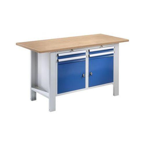 Stół warsztatowy,szer. blatu 1500 mm, 4 szuflady, 2 drzwi