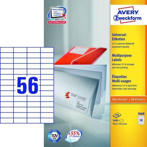 Avery zweckform Etykiety uniwersalne 3688, 52,5x21,2mm
