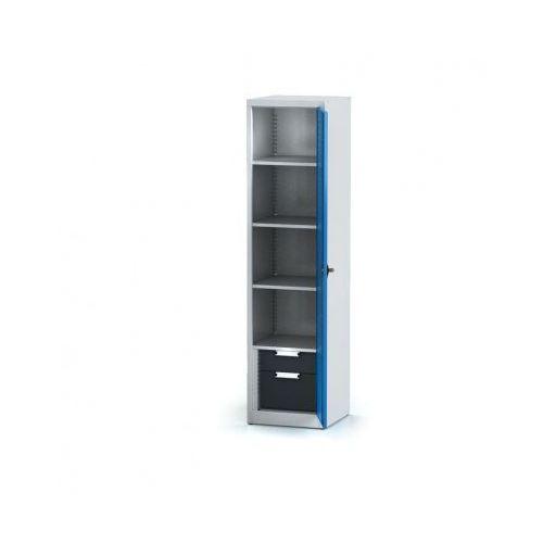 Szafa warsztatowa - 4 półki, 2 szuflady