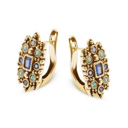 Kolekcja wiktoriańska - kolczyki z szafirami i opalami marki Biżuteria yes