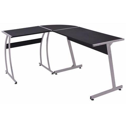 Vidaxl biurko rogowe w kształcie l, czarne (8718475500247)