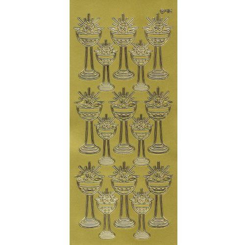 Sticker złoty 20940 - kielich z hostią duży x1 marki Herma