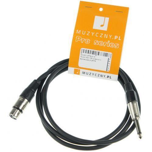 mic 1,5m przewód niesymetryczny xlrf ts marki 4audio