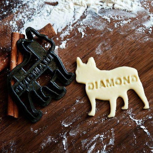 Buldog Francuski - personalizowana foremka 3D do ciastek - Foremka 3D