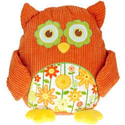 Przytulanka sowa, miękka zabawka, pomarańczowa, 28 cm, 322948970 - pomarańczowa