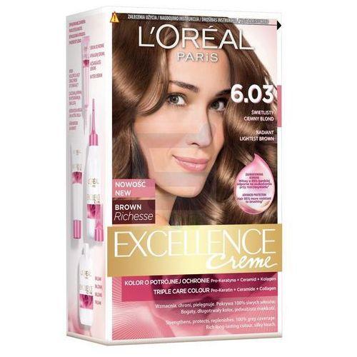 Excellence Creme farba do włosów 6.03 Świetlisty ciemny blond - L'Oreal Paris (3600522258582)