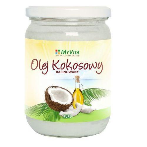 Myvita Olej kokosowy rafinowany bezzapachowy pure 500g (5905279123229)