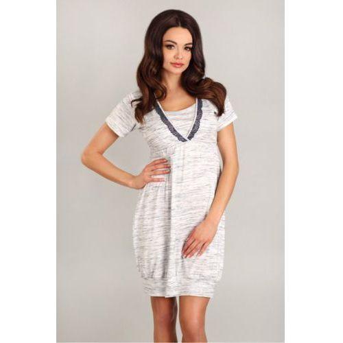 Lupoline Koszula nocna model 1742 white/grey