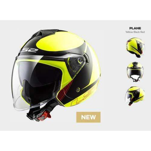 Ls2 Kask moto f573 twister solid plane h-v yellow - blenda!