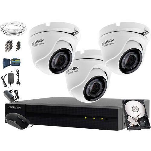 Hikvision hiwatch Kompletny tani monitoring apteki turbo hd, ahd, cvi hwd-6104mh-g2, 3 x hwt-t140-p, 1tb, akcesoria