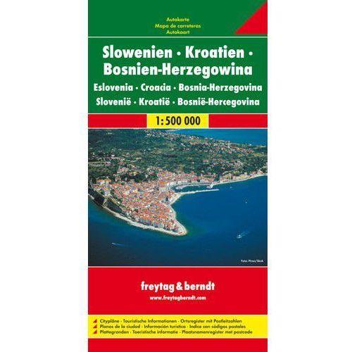 Słowenia Chorwacja Bośnia i Hercegowina. Mapa 1:500 000 (1 str.). Tanie oferty ze sklepów i opinie.