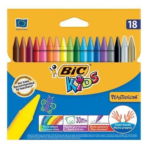 Bic Kredki świecowe plastidecor®, 18 kolorów - super cena - autoryzowana dystrybucja - szybka dostawa - porady - wyceny - hurt (8913868732701)