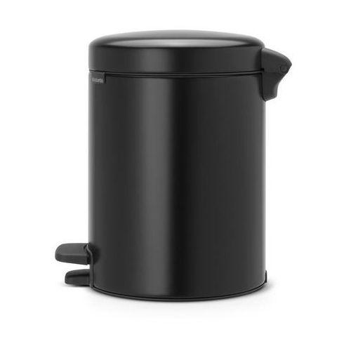Brabantia Kosz na śmieci pedałowy newicon 5l matowy czarny