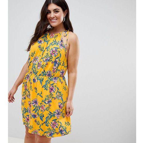 Asos design curve mini drapey sundress in floral print - multi, Asos curve