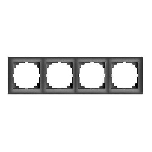 Elektro-plast Ramka poczwórna sentia pion/poziom czarna
