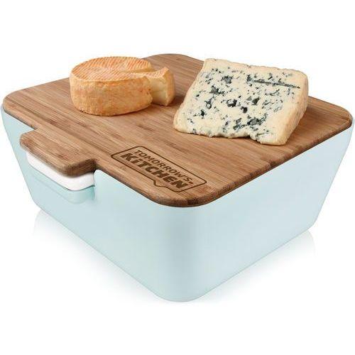 Tomorrow's kitchen Pojemnik na pieczywo z deską bambusową vintage blue (tk-27107603) (8714793271074)