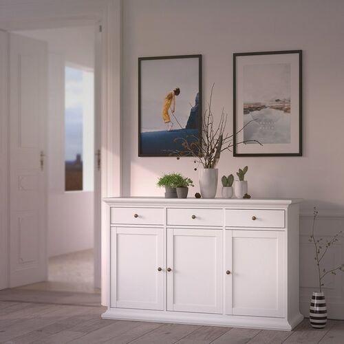 Romantyczna komoda paris 3+3 biała marki Tvilum
