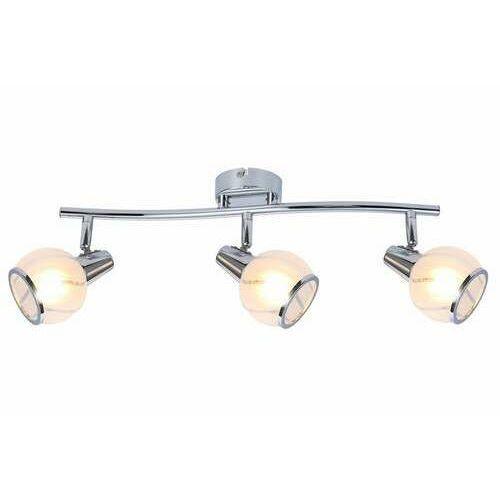 Reality megan 831003-06 listwa plafon lampa sufitowa spot 3x40w e14 chrom (5906737308202)