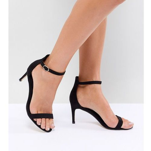 Truffle collection mid barely there heeled sandals - black