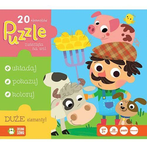 Puzzle 20 Zwierzęta na wsi -