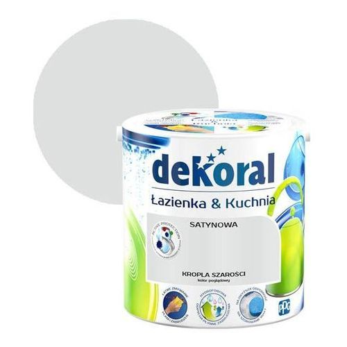 Farba satynowa łazienka i kuchnia kropla szarości 2,5 l marki Dekoral