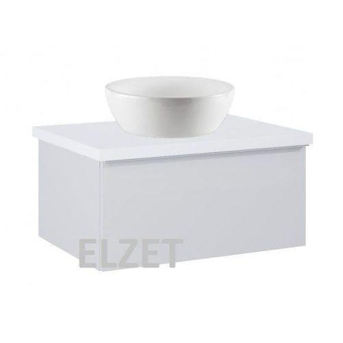 ELITA szafka Look 1S stone matt pod umywalkę nablatową + blat 60 white 167591+166890